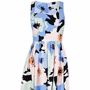 Calvin Klein Fit and Flare Floral Flattering Dress